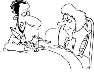 A_Black_and_White_Cartoon_Husband_Caring_For_His_Sick_Wife_Royalty_Free_Clipart_Picture_110117-172045-618053